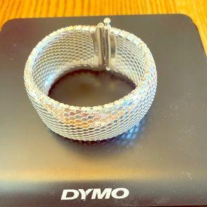 """1"""" wide 925 Sterling silver bracelet"""